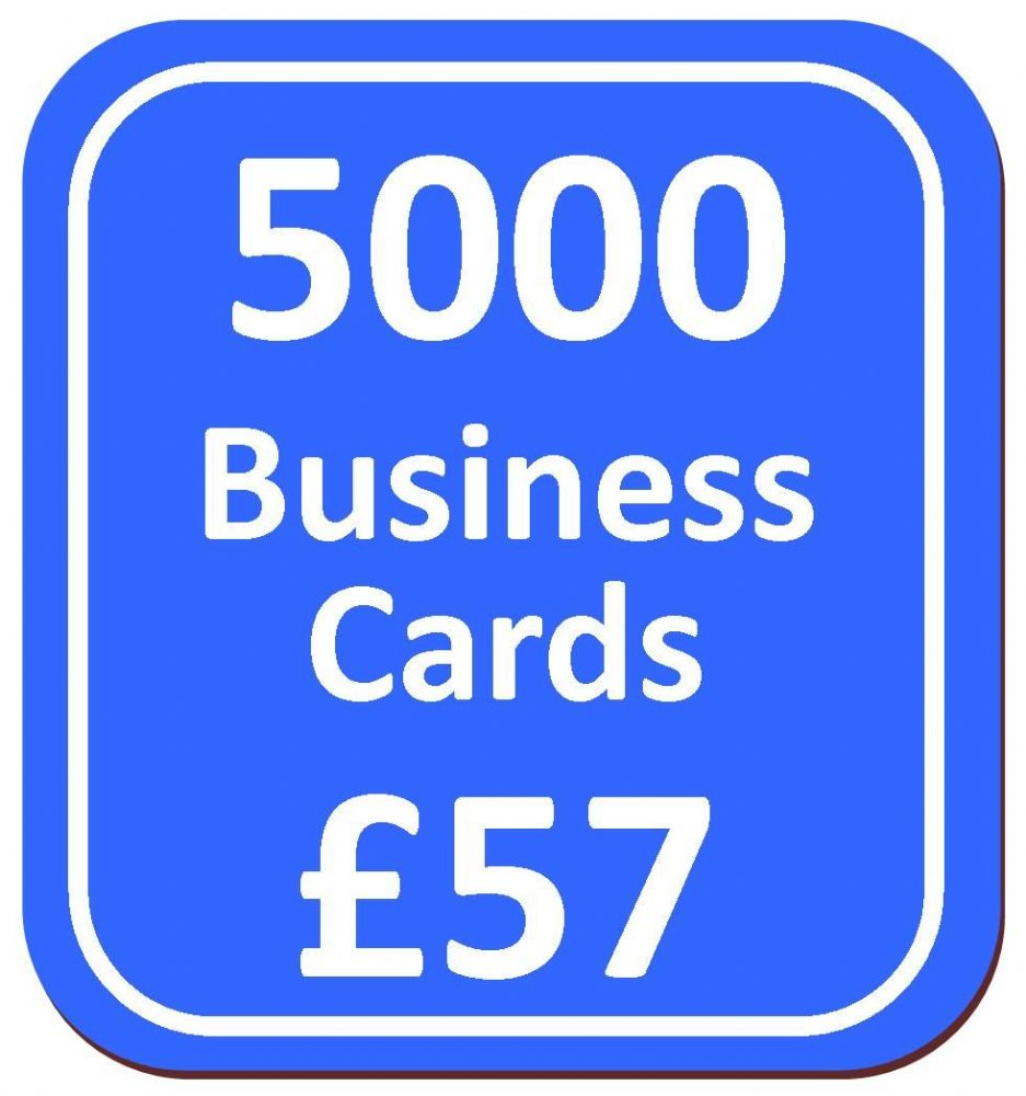 5000 Business Cards from only 57 printed on 400gsm smooth silk card ...